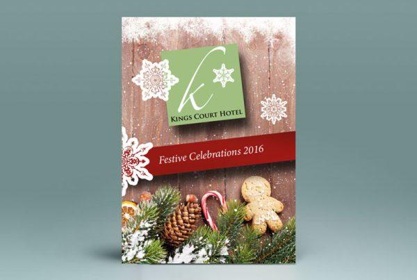 A4 Christmas Menu Design